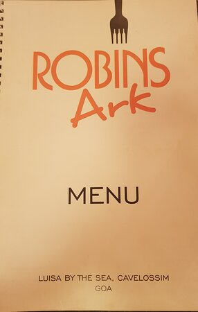 The menu cover: like the place understated
