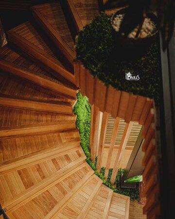 Stairs to Lounge Zone