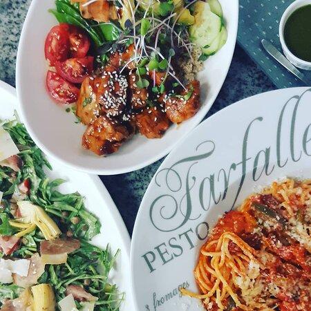 Poke bowl, pasta et salade