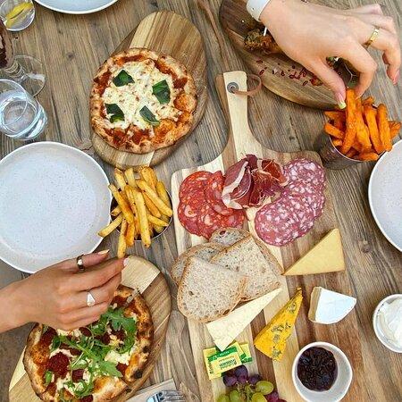   Mixed Grazing Board   Mozzarella Pizzette   N'duja Pizzette   Sweet Potato Fries   Salt + Pepper Fries