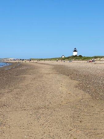A stretch of beach