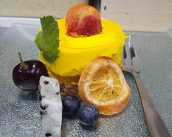 Tarta de queso de naranja