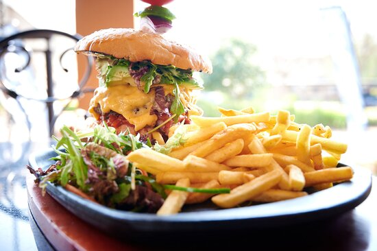 Stack your own Beef or Chicken Burger! How big can you go?