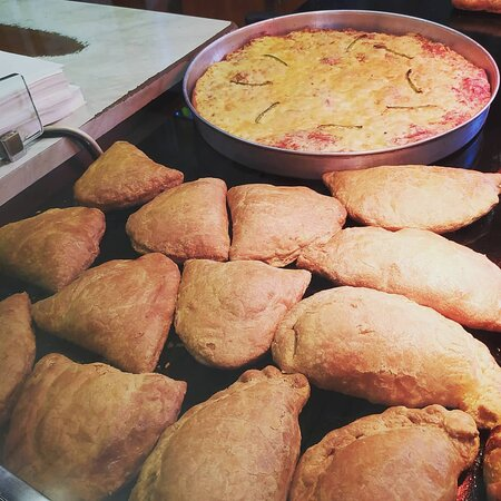 Our famous tyropita (Cheese pie) and Pizza!
