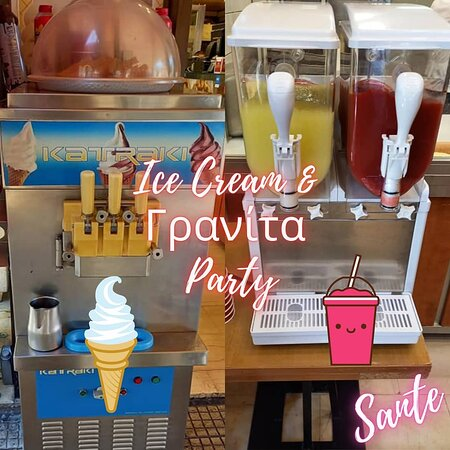 Granita and Soft Ice cream of your choice will help enjoy the greek summer!