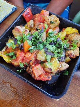 сковородочка с мясом и овощами