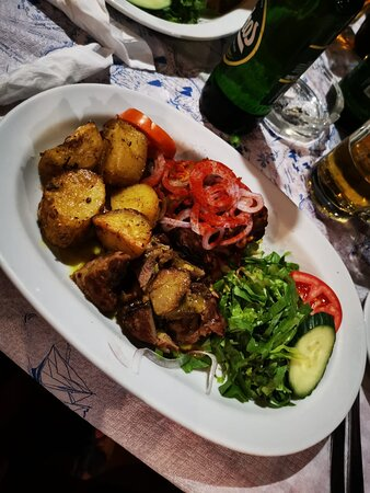 Amazing spit roast lamb.