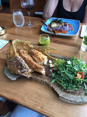 Whole snapper (sorry I ate a piece !!!