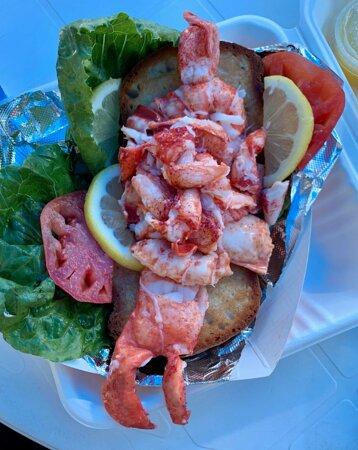 Lobster roll (gluten free bread)