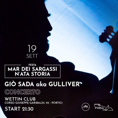 Domenica 19 settembre, ore 21.30 Giò sada aka Gulliver in concerto presso la nostra struttura! dalle 20.00 apericena 12 euro, PRENOTAZIONE OBBLIGATORIA