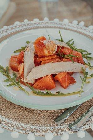 Organic Tomato Salad & Tuna Belly