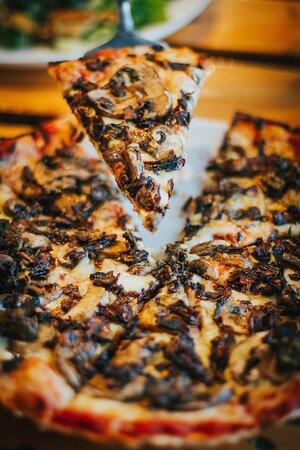 Pizza Funghi: hongos mixtos