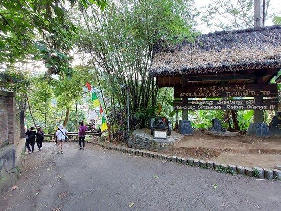 Bandung, Indonesia: The gate of Kampung Adat Cireundeu.