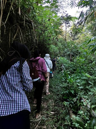 Bandung, Indonesia: When hiking to Puncak Salam, it was a must to walk barefoot.