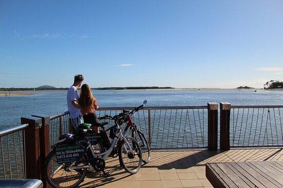 Tour en bicicleta eléctrica de río a río, tierra y mar en Brisbane