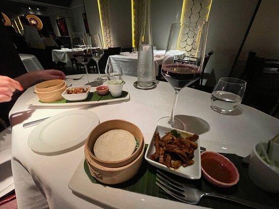 Tasting plate and wine pairing