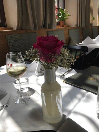Schöne Tischdekoration