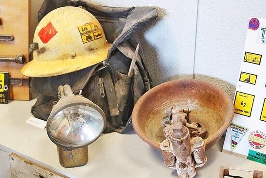 A display at the Historical Society Museum in San Manuel, AZ.