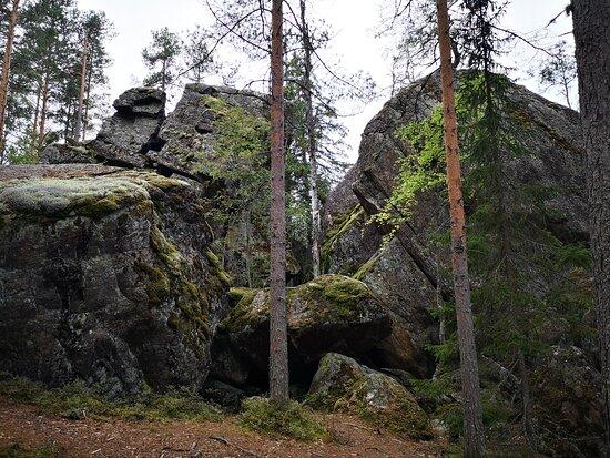Saimaa Geopark Rakokivet, Siirtolohkareita