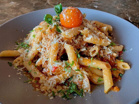 100% comfort. Chef's Penne Arrabbiata a hug on a plate, made for the days in between your rib day, steak day, seafood day and burger day.
