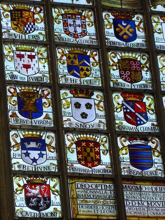 Brussels, Notre Dame du Sablon Church, stained glass window