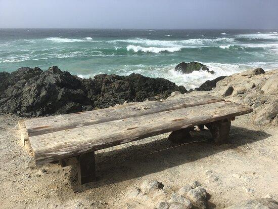 Masirah Island, Oman: The British Bench. South Masirah