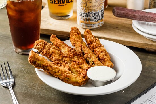 Fried Pickles - hand-breaded dill spears - served with buttermilk ranch