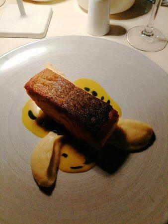 Salmon with celeriac puree
