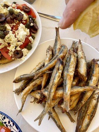 Niko's Cretan salad & fried gavros
