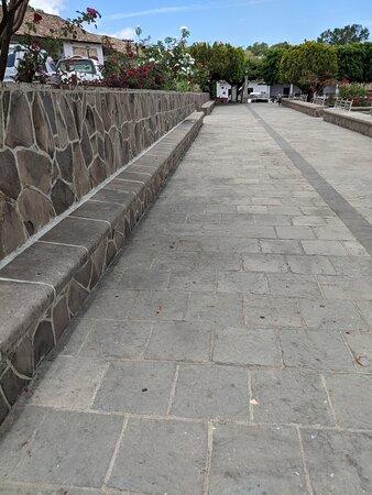 The paved walkway around Plaza Revolucion Mexicana.