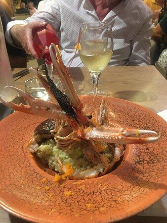 Risotto aux langoustines et foie gras