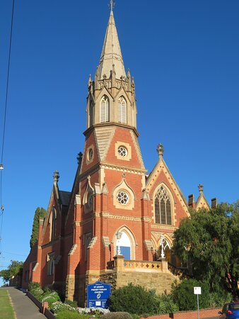 Neigbouring St. John's Presbyterian Church across Mackenzie Street from the cathedral.