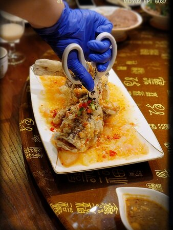 Fried Fish with Pomelo Sauce
