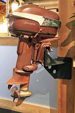 Another vintage outboard motor on display