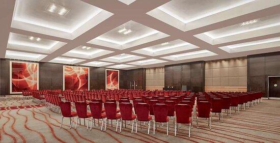 Ballroom with theater setup