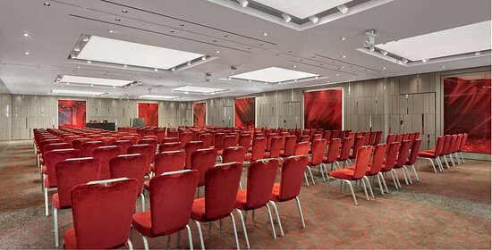 City suites meeting room with theater setup
