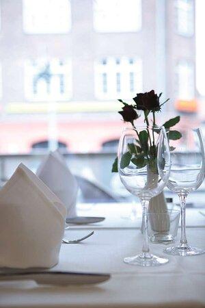 Restaurant flower on table
