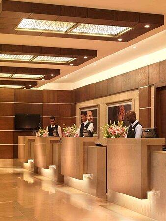 Hotel Lobby With Staff