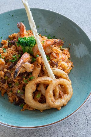 Jollof rice jambalaya