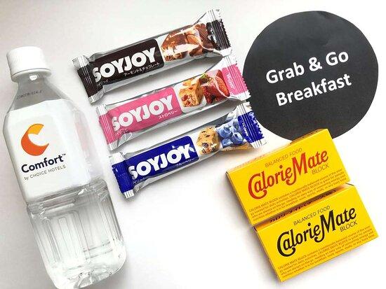 Assorted breakfast items