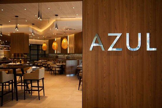 Azul Restaurant Door Sign