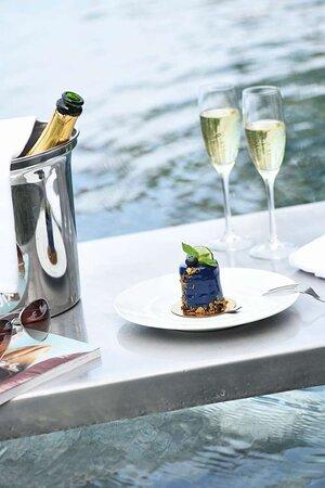 Dessert and Champagne