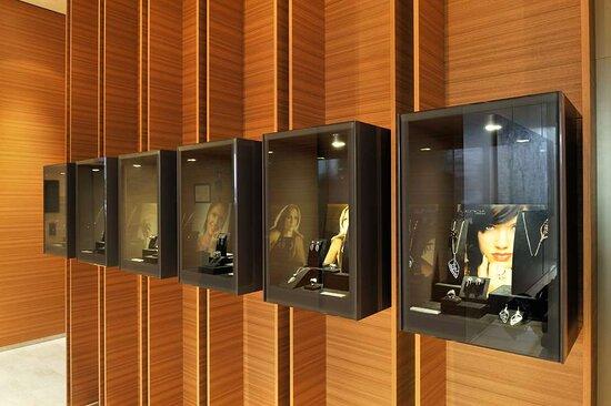 Lobby Shop Jewelry Showcase