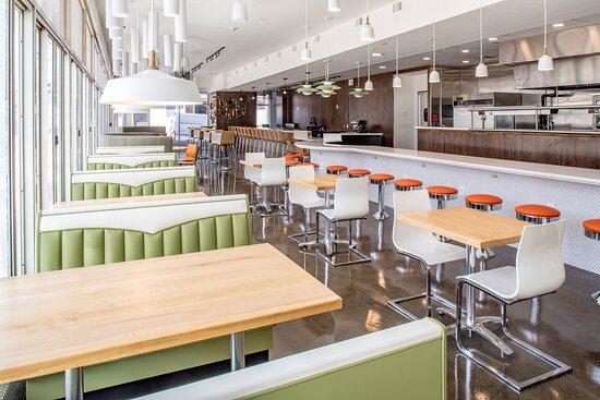 Enjoy the local, retro diner, 3rd & Court Diner at Hotel Indigo