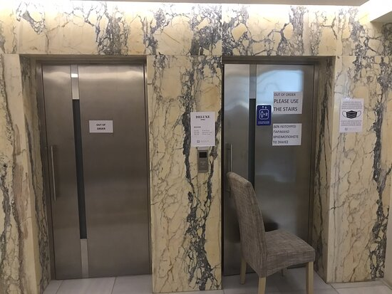 Broken elevators and dark staircase and inattentive staff makes for an unpleasant stay . I believe there are better choices in Pylos.