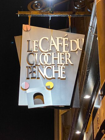 Street sign and menue and wine list