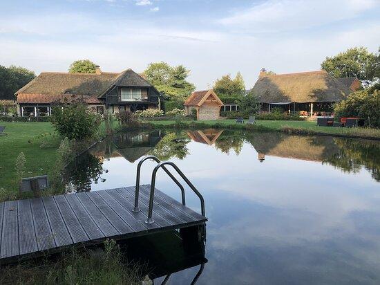 Schaluinenhoeve tuin en zwemvijver