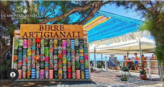Birreria artigianale al Crawford beach marinella