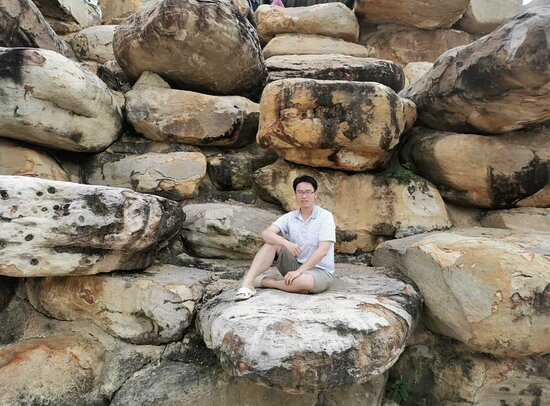 Me in rock garden.