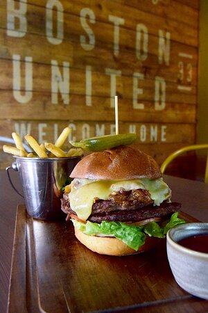 Burger - currently available on our evening menu (September 2021 - menus are subject to change).